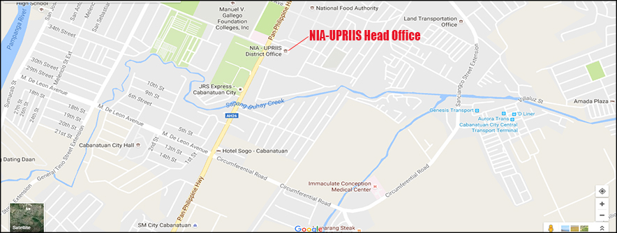 Location Map of NIA-UPRIIS